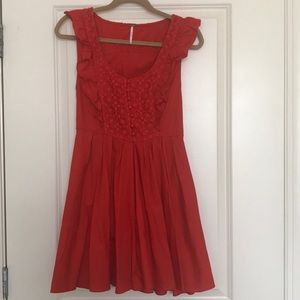 Free People Red Dress. Small